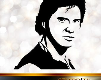 Han Solo Silhouette, artist silhouettes, celebrity silhouette, famous people