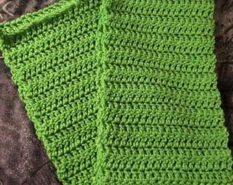 Bright Green Infinity Scarf