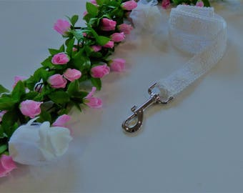 Attractive Ivory Lace Wedding Dog Leash