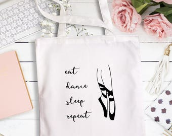 Dance Tote Bag, Ballet Dancer Bag, Girls Dance Bag, Ballet Bag, Ballet Tote, Dancer Gift, Ballerina Tote Bag, Ballerina Gift.