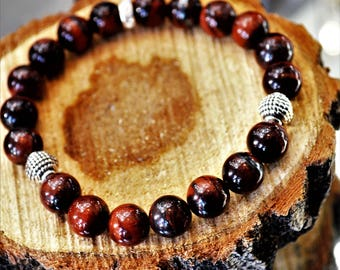 7 Deadly Sins  Mahogany Obsidian Sterling silver Bracelet