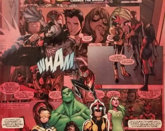 Marvel Comic Collage Champions