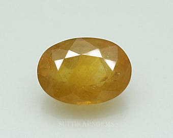 5.10 ct yellow sapphire oval cut 8.3 x 11.6 x 5.8 mm loose gemstone