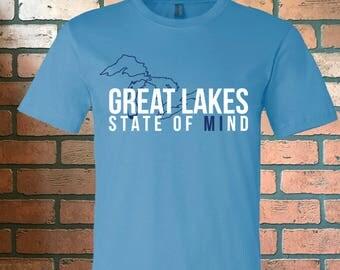 Great Lakes State of Mind Tee - Great Lakes - Michigan - lake life - lake - lake shirts - the mitten