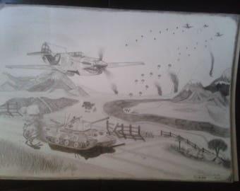 WWII Landscape Draw