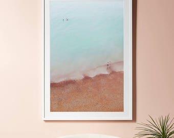 Aerial Beach Print, Aerial Photography, Ocean Wall Art, Pacific Northwest Art, Printable poster, Turquoise Sea, Modern Prints, Ocean decor