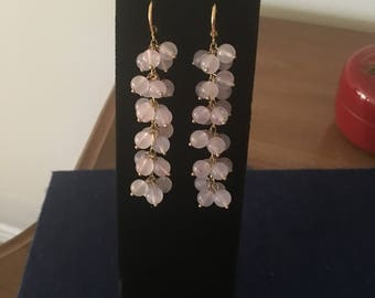 Rose Quartz Earrings by Dobka