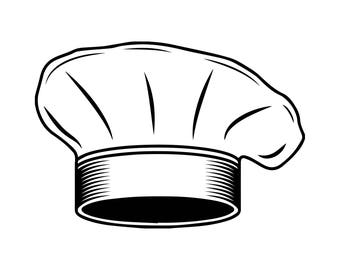 Chef Hat Uniform Business Restaurant Cafeteria Food Dining Cooking  .SVG .EPS .PNG Vector  Clipart Digital Download Circuit Cut Cutting