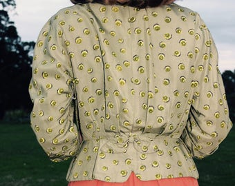 1950's Apple Green Waist Coat