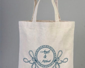 Sea Life Totes, Sea Themed Party, Bridal Shower Favor, Bridal Tote, Bridal Party Tote, Wedding Gift Tote, Marine Tote Bag, Personalize