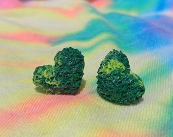 Weed Heart Nug Earrings