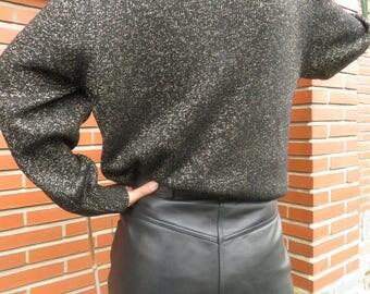 Gapelle shorts - Vintage black leather