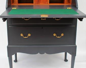Vintage Solid Mahogany Bureau