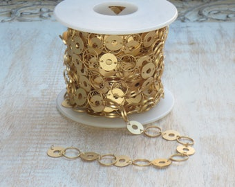 11mm Matte Gold Olympic Chain- Round Link Chain