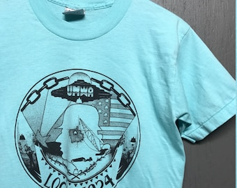 M vintage 80s UMWA Union mine workers t shirt
