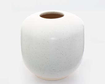 Wheel thrown Ceramic Vase w/Textured Matte White Glaze by fingg!
