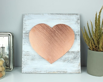 Rose gold nursery decor, Rose gold wall art nursery, Rose gold wall decor nursery, Rose gold home decor, Rose gold nursery decor, Wood heart