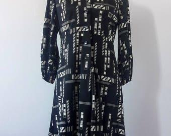 1970s Vintage Japanese Dress