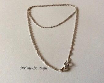 Thin chain 1.2 mm Silver 925 Platinum 46cm