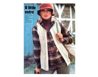 Patterned Vest Crochet Pattern