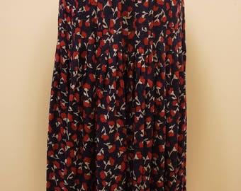 Vintage Valentino-Miss V Silk Skirt