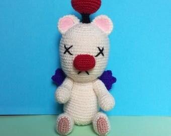 Moogle crochet, 23cm, final fantasy