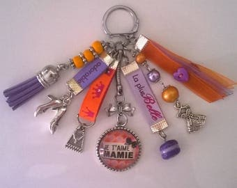 "bag charm or key theme ""I love Grandma"""
