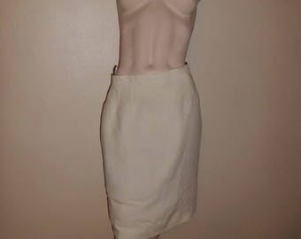 GEORGES RECH T40 linen skirt pencil skirt