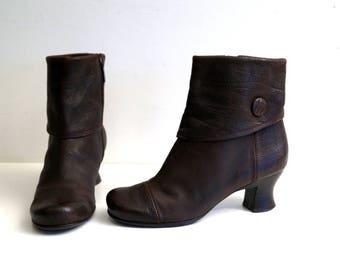 ZINDA Designer ankle boots Eu 38 Uk 5 US 7.5 Brown genuine leather womens boots Ankle boots Ankle booties Brown heel boots Made in Spain