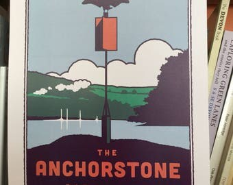 The Anchorstone in Dartmouth print poster A3