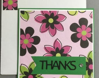 Thank You Note - Flowers