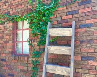 Custom Blanket Ladder, Personalized Blanket Ladder, Rustic Blanket Ladder, Towel Ladder, Quilt Ladder (5 ft)