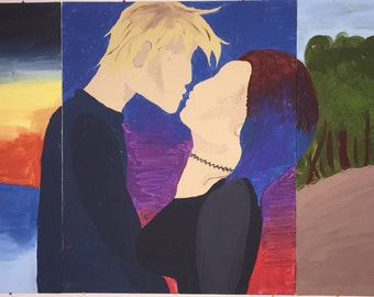 Personalized Silhouette Painting (Made on three separate canvases)
