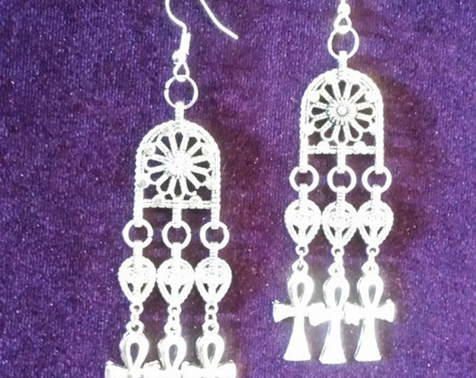 Ankh Earrings - Ankh Gothic Set Apep Vampire Goth Egypt Dracula Immortal Leviathan
