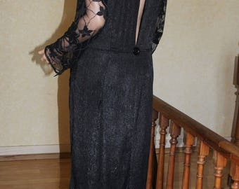 Long evening dress open back