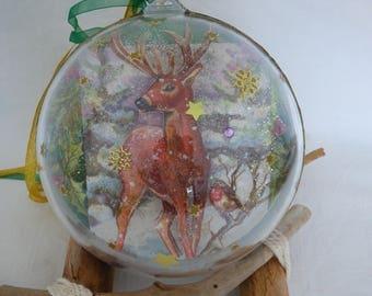 Christmas ball transparent acrylic 14cm