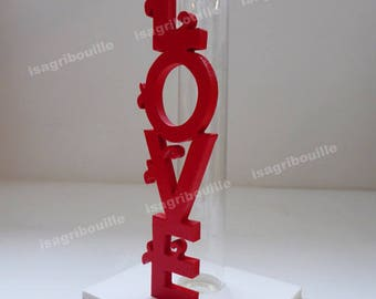 Love red and white - vase container for wedding favors