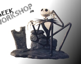 "JACK SKELLINGTON Statuette from Tim Burton's ""the nightmare before Christmas of Mr Jack"" (6 model)"