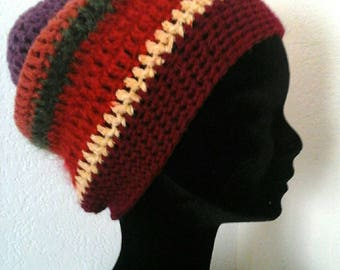 Hat yarn women Bohemian crochet