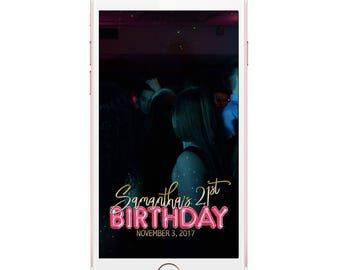 Birthday Snapchat Geofilter, Birthday Geofilter, Birthday Filter, 21st birthday, 21st birthday filter, Geofilter Birthday, Snapchat Filter