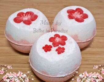 Japanese Cherry Blossom Bath Bomb Fizzy | Large 2.6 inch