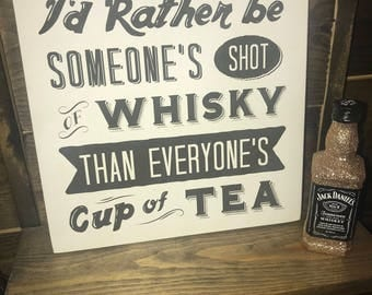 Whisky wooden plaque