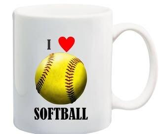 Love softball coffee mug,I love softball coffee mug, softball dad coffee mug, softball mom coffee mug, softball is life coffee mug, softball