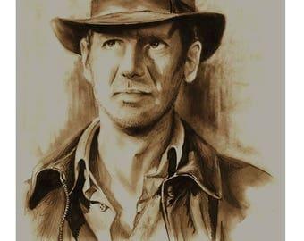 Indiana Jones Pencil Portrait
