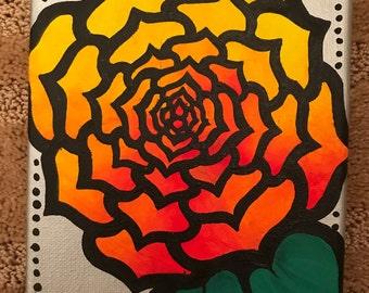 Acrylic Sunset Rose