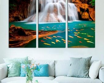 Waterfall Wall Art waterfall wall art | etsy