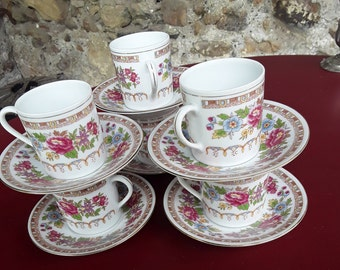 old porcelain 6 cups
