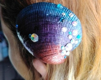 Jeweled Shell Hair Clip