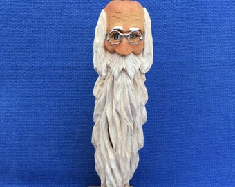 Hand Wood Carved Santa's, Faces of Santa,