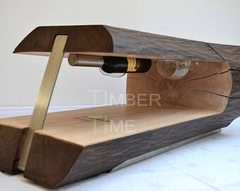 Coffee table solid 'Vino' ash, collector's item